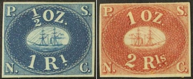 Первые марки Перу