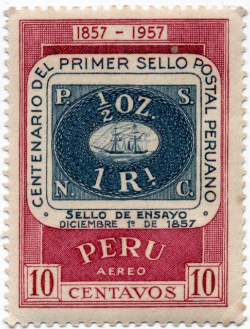 Первая марка Перу