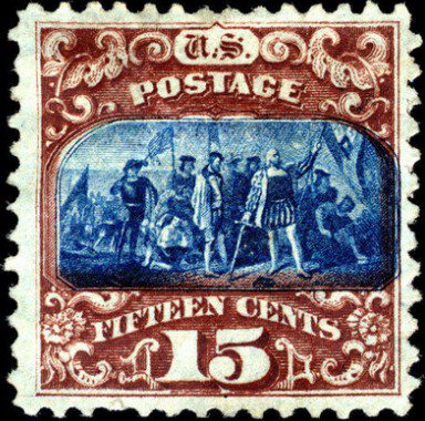 Колумб марка США 1869