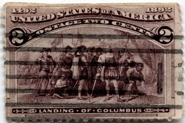 марка Колумб США 1893
