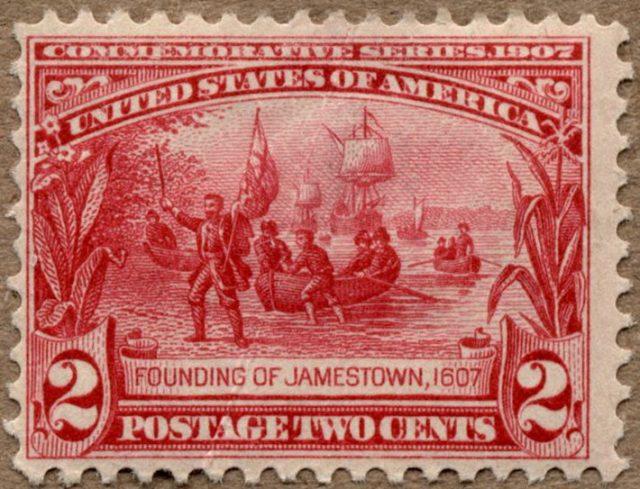 Основание Джеймстауна марка