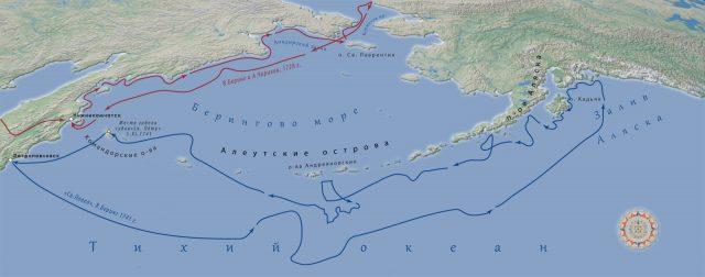 Плавания Беринга и Чирикова