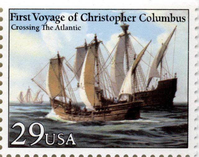 Марка США 1992 Колумб