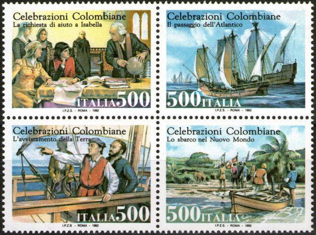 Италия марки Колумб