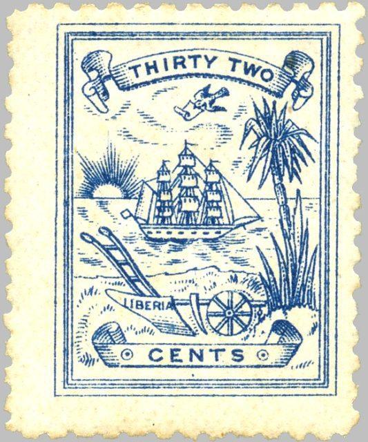 Либерия марка