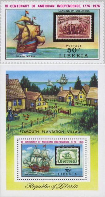 Марки Либерии 1975