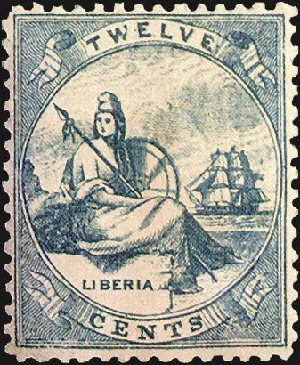 Первая марка Либерии