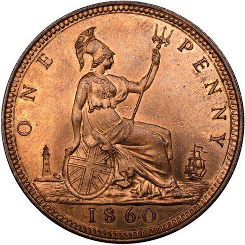 Британская монета 1860 г.