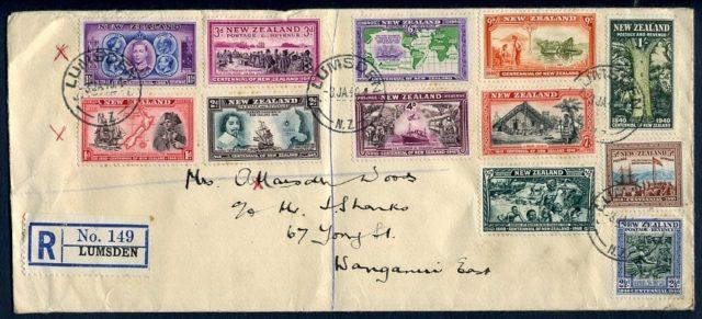 Марки Новой Зеландии Centenial 1940