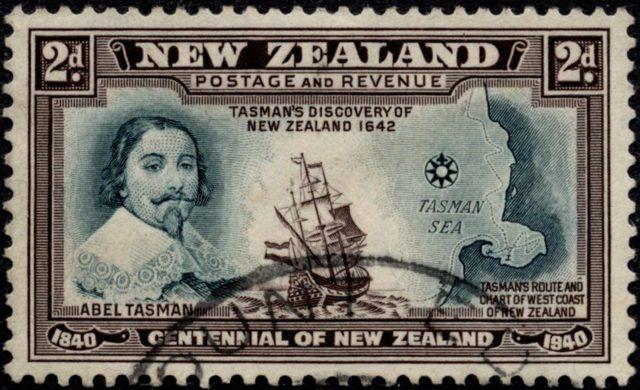 Абель Тасман - марка Новая Зеландия 1940