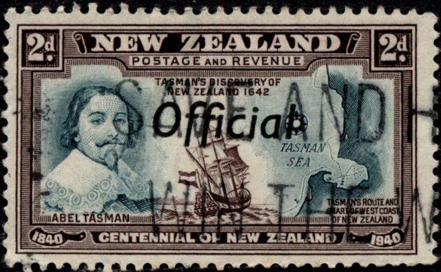 Абель Тасман на марке Новой Зеландии