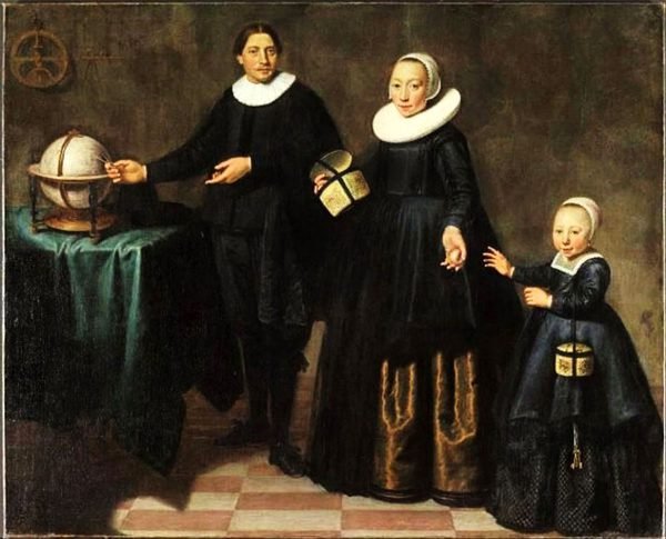 Абель Тасман с женой и дочерью