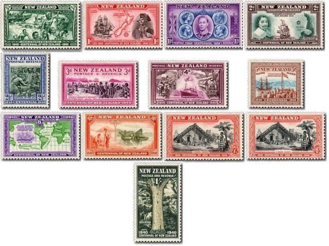 Марки Серия Centennial, Новая Зеландия 1940