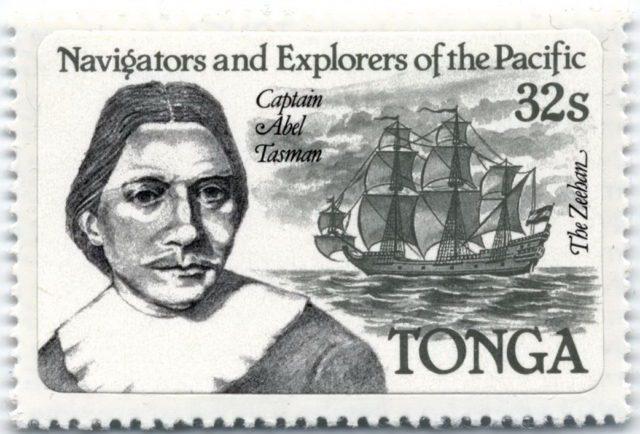 Тасман на марках Тонги