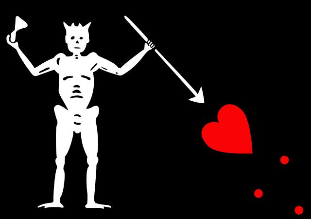 Пиратский флаг Черной Бороды