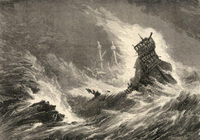 Крушение корабля Непобедимой армады