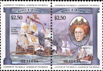 марка Елизавета I и испанская армада