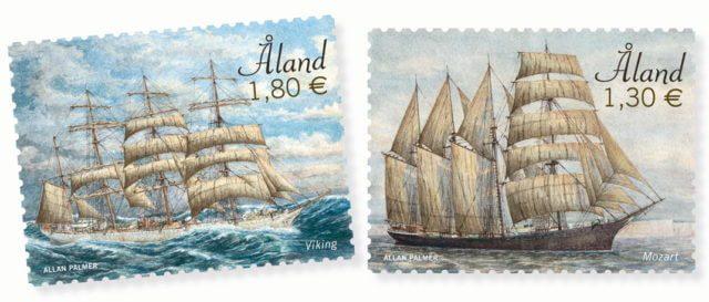Марки Аландских островов, парусники