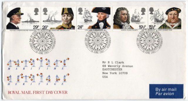 Конверт марки парусники