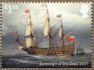 Марка парусник Sovereign of the Seas
