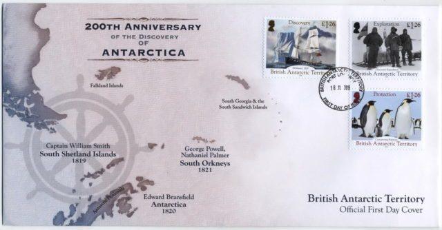Конверт Британские Антарктические территории