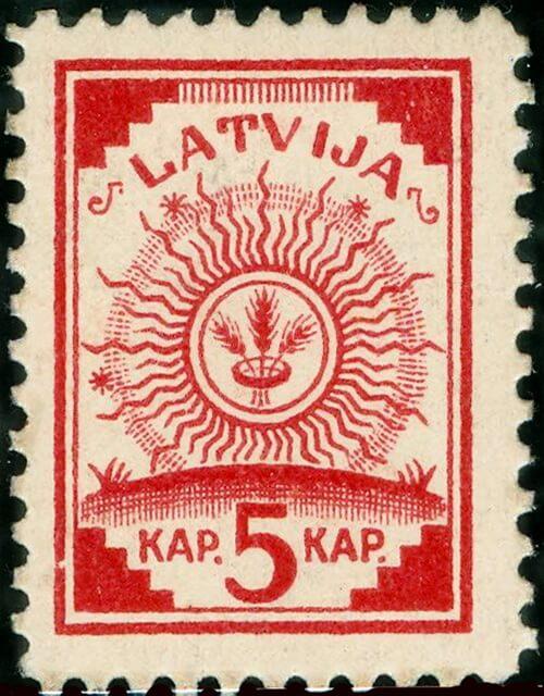 Первая латвийская марка