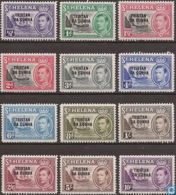 Марки Тристан-да-Кунья 1952
