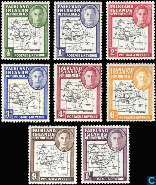 Зависимые территории Фолклендских островов  Falkland Islands dependencies), 1946