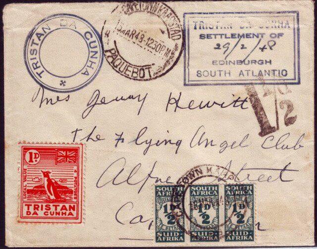 Тристан-да-Кунья конверт