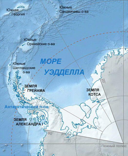 Южные Шетландские острова карта