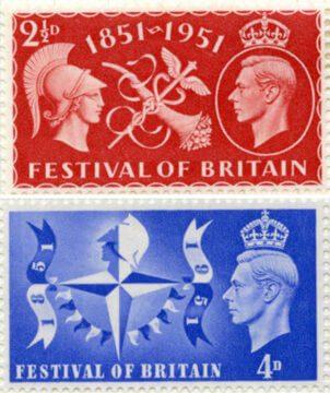 Великобритания, марки к британскому фестивалю 1951 г.