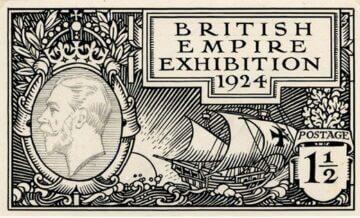 Эскиз марки Гарольд Нельсон, 1924