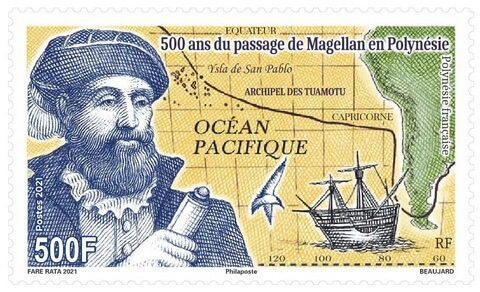 500 лет путешествию Магеллана, Французская Полинезия 2021