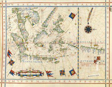 Карта Южной Азии 1571